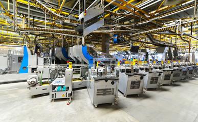 moderne Industrieanlage - Versandabteilung einer Großdruckerei