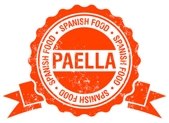 paella stamp with ribbon