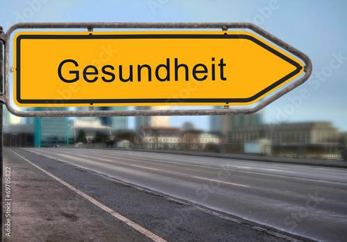 canvas print picture Strassenschild 14 - Gesundheit