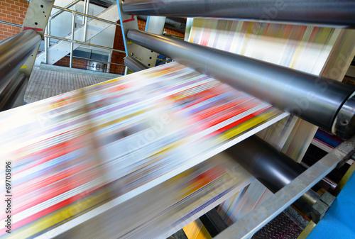 canvas print picture Druckmaschine für Tageszeitung // printing machine