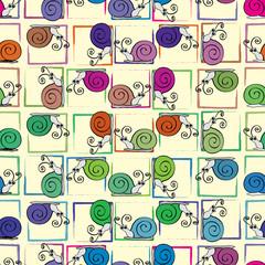 Funny snail pattern