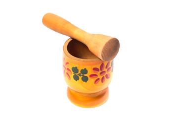 Wooden handmade vintage pestle