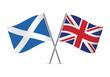 British and Scottish flags. Vector illustration.