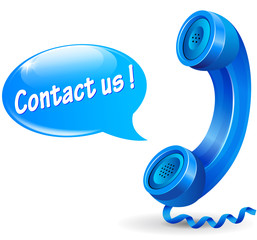 Vector contact us illustration concept