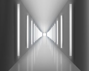 Illuminated passage. Vector illustration.