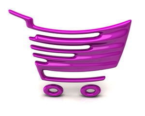 Purple shopping cart icon