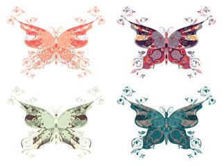 Colorful Butterflies Set