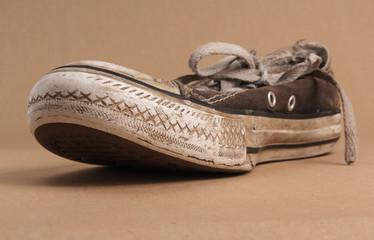Old dirty sneaker