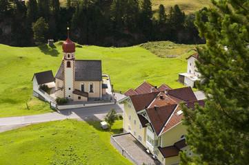 Mountain village church in Tirol, Austria