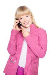 Portrait of cheerful blond girl