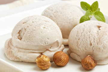 Handmade Hazelnut Ice Cream