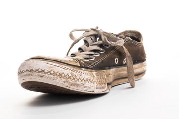 Muddy old shoe