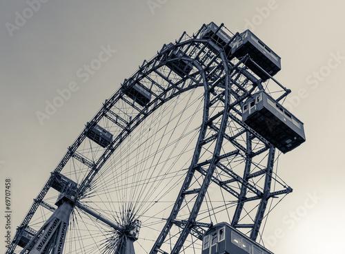 Leinwanddruck Bild Riesenrad Prater Wien