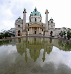 church in KARLSPLATZ in Vienna Austria