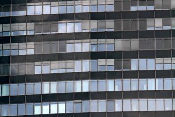 Windows of a huge skyscraper of a metropolis