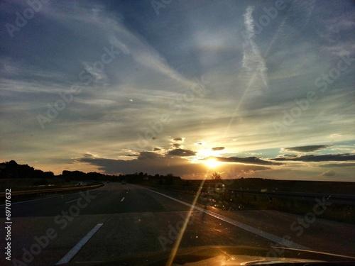 canvas print picture Der Sonne entgegen