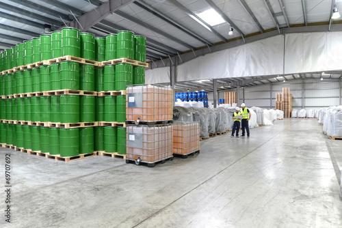 Leinwandbild Motiv Lagerhaus // industrial warehouse