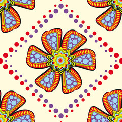 Flowers. Seamless pattern with flowers