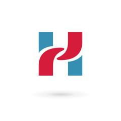 Letter H logo icon design template elements.