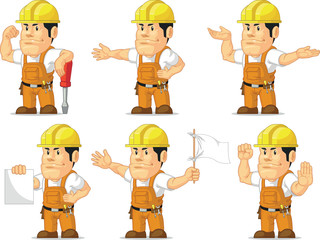 Strong Construction Worker Mascot 8