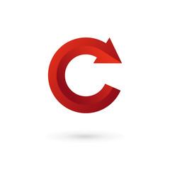 Letter C arrow logo icon design template elements.