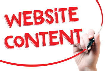 Website content writing concept