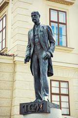 Tomas Garrigue Masaryk statue in Prague