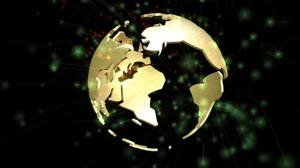 Digital animation of a rotating Earth Globe