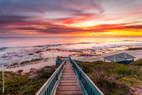 Tuinposter Australië sunset at the beautiful beach