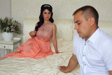 photo from wedding album.beautiful couple
