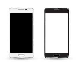 New smartphone mockup Black and white