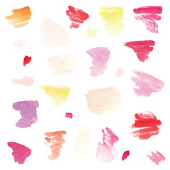 Watercolor background set.