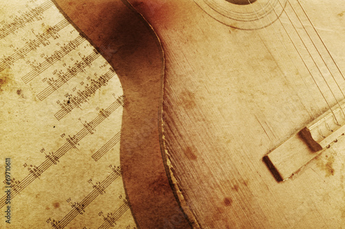 canvas print picture Acoustic guitar