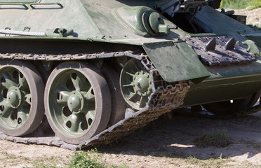Caterpillar of vintage german tank - Panther