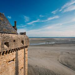 Mont Saint Michel ancient village. Normandy, France.