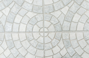 While marble stone mosaic texture.