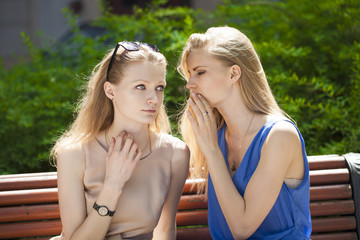 Two beautiful young woman