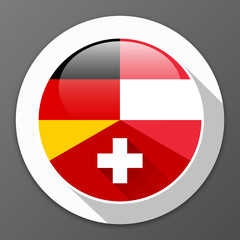 German-speaking Europe, D-A-CH countries – Button