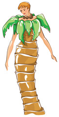 Carnival costumes -  palm tree