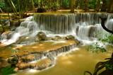 Fotoroleta Cascade Waterfalls in Green Forests