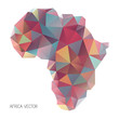 Polygon style outline shape of Africa