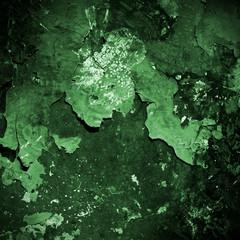 Grunge green metal background