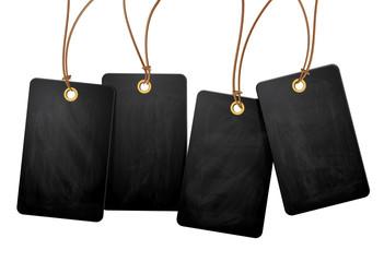4 hängende Blackboard - Plaketten