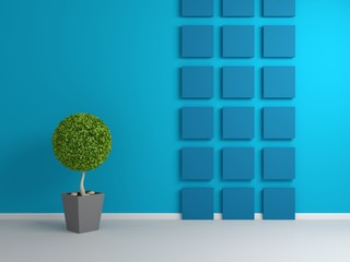 3d rendered abstract interior composition.