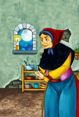Old witch in the old room