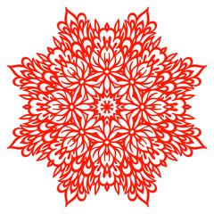 Abstract Flower Mandala. Decorative element for design.