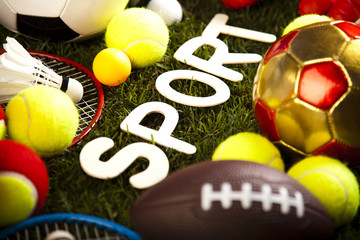 Sport closeup detail, grass
