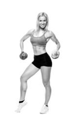 Fitness and Exercise Female Bodybuilder