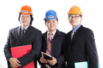 Three Engineers prepared workong