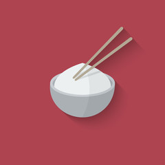 Asian food design element